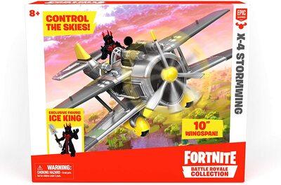 "Самолет Штурмовик Фортнайт X-4 и фигурка Владыка льда из серии ""Королевская битва Фортнайт"" (Fortnite Battle Royale Collection: X-4 Stormwing Plane & Ice King Figure) (фото, вид 1)"