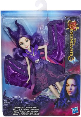 Кукла-трансформер Королева Дракон Мэл, «Наследники Диснея-3» (Disney Descendants Dragon Queen Mal, Fashion Doll Transforms to Winged Dragon) (фото, вид 1)