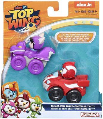 Фигурки Рода и Бетти Гонщика, герои сериала «Отважные птенцы» (Top Wing Rod and Betty Racers) (фото, вид 1)