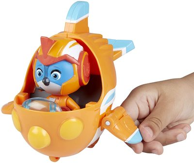 Фигурка Свифта с транспортным средством (скоролет), герой сериала «Отважные птенцы» (Top Wing Swift figure and vehicle) (фото, вид 2)