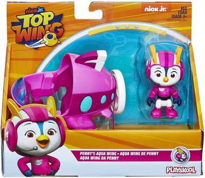 Фигурка кадета Пенни с транспортным средством из сериала «Отважные птенцы» (Top Wing Penny Figure & Vehicle) (фото, вид 1)