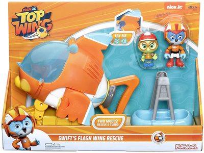 Фигурки Крылатый патруль Свифт и Тимми, герои «Отважные птенцы» (Hasbro Top Wing Swift's Flash Wing Rescue Vehicle) (фото, вид 1)