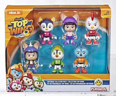 Набор из 6 фигурок, героев сериала «Отважные птенцы» (Top Wing 6-Character Collection Pack) (фото, вид 1)