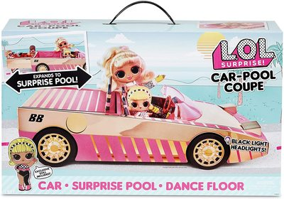 Набор кукла ЛОЛ Драг Рэйсер в кабриолете с бассейном и танцполом. (LOL Car-Pool Coupe with Exclusive Doll) (фото, вид 2)