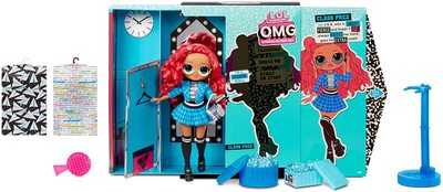 Кукла ЛОЛ O.М.G. 3 серия, Стильная Класс През, с 20 сюрпризами (LOL O.M.G. Series 3 Class Prez Fashion Doll) (фото, вид 1)