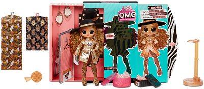 Кукла ЛОЛ Сюрприз O.М.G. 3 серия, Стильная Да Босс, с 20 сюрпризами (L.O.L. Surprise! O.M.G. Series 3 Da Boss Fashion Doll with 20 Surprises) (фото, вид 1)