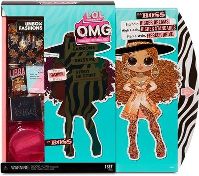 Кукла ЛОЛ Сюрприз O.М.G. 3 серия, Стильная Да Босс, с 20 сюрпризами (L.O.L. Surprise! O.M.G. Series 3 Da Boss Fashion Doll with 20 Surprises) (фото, вид 2)