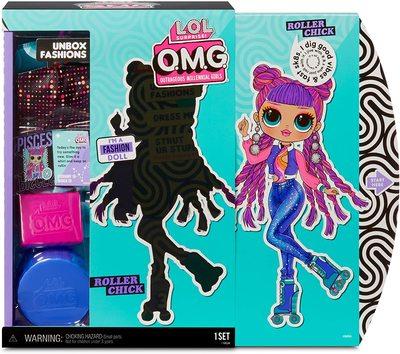 Кукла ЛОЛ Сюрприз O.М.G. 3 серия, Стильная Роллер Чик, с 20 сюрпризами (L.O.L. Surprise! O.M.G. Series 3 Roller Chick Fashion Doll with 20 Surprises) (фото, вид 2)