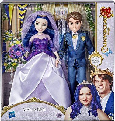 """Набор «Королевская свадьба» кукол Мэл и Бен из серии """"Наследники Дисней 3"""" (Disney Descendants Mal and Ben Dolls, The Royal Wedding) (фото, вид 1)"""