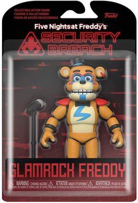 Глэмрок Фред подвижная фигурка - Нарушение Безопасности (Funko Action Figure: Five Nights at Freddy's, Security Breach - Glamrock Fred) (фото, вид 1)