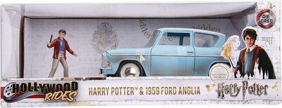 Кукла Гарри Поттер и литой автомобиль Форд Англия 1959 г., масштаб 1:24 (1:24 Harry Potter and 1959 Ford Anglia Die-Cast Vehicle) (фото, вид 3)