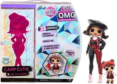 Кукла ЛОЛ Сюрприз О.М.G. Винте Чил Кэмп Кьюти с младшей сестренкой «Малышка в лесу» и 25 сюрпризами (LOL Surprise OMG Winter Chill Camp Cutie Fashion Doll & Sister Babe in The Woods Doll with 25 Surprises) (фото, вид 1)