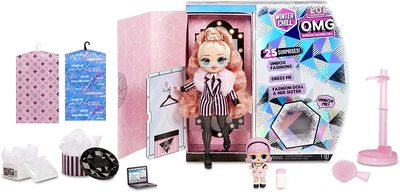 Кукла ЛОЛ Сюрприз О.М.G. Винте Чил Биг Виг с младшей сестренкой Мадам Квин и 25 сюрпризами (L.O.L. Surprise! O.M.G. Winter Chill Big Wig Fashion Doll & Madame Queen Doll with 25 Surprises) (фото, вид 2)