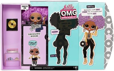 Кукла ЛОЛ Сюрприз О.М.G. Стильная 24K Ди Джей с 20 сюрпризами (LOL Surprise OMG 24K D.J. Fashion Doll with 20 Surprises) (фото, вид 2)