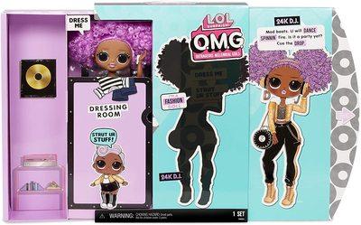 Кукла ЛОЛ О.М.G. Стильная 24K Ди Джей с 20 сюрпризами (LOL OMG 24K D.J. Fashion Doll) (фото, вид 2)