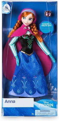 Кукла Анна с кольцом - «Холодное сердце 2» - Дисней (Disney Anna Classic Doll with Ring - Frozen) (фото, вид 1)