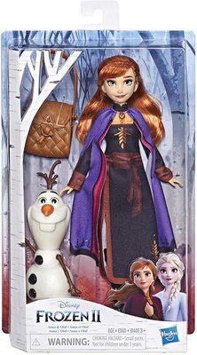 Кукла Анна с фигуркой Олафа и походной сумкой - «Холодное сердце 2» - Дисней (Disney Frozen Anna Doll with Buildable Olaf Figure) (фото, вид 1)