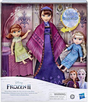 Набор: Кукла Королевы Идуны, поющая колыбельную, с малышками Эльзой и Анной - «Холодное сердце 2» - Дисней (Disney Frozen 2 Queen Iduna Lullaby Set with Elsa and Anna Dolls) (фото, вид 1)