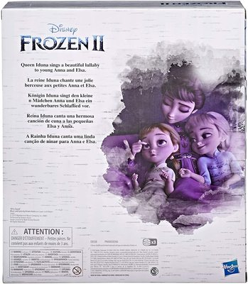 Набор: Кукла Королевы Идуны, поющая колыбельную, с малышками Эльзой и Анной - «Холодное сердце 2» - Дисней (Disney Frozen 2 Queen Iduna Lullaby Set with Elsa and Anna Dolls) (фото, вид 2)