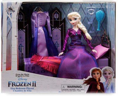 Набор «Спальня» с куклой Эльзой - «Холодное сердце 2» - Дисней (Disney Elsa Classic Doll Bedroom Play Set – Frozen 2) (фото, вид 1)