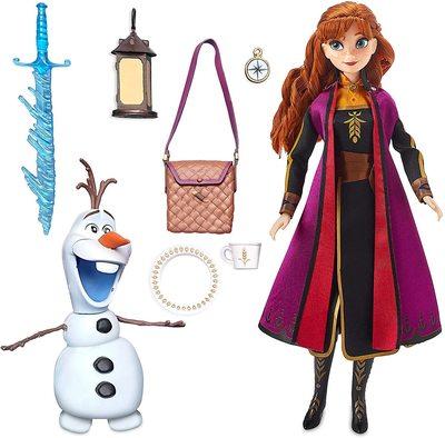 Набор «Приключение» с куклой Анной и фигуркой Олафа - «Холодное сердце 2» - Дисней (Disney Anna Classic Doll Adventure Play Set – Frozen 2) (фото, вид 1)