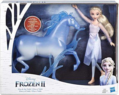 Набор: кукла Эльза и фигурка лошади Нокк - «Холодное сердце 2» - Дисней (Disney Frozen Elsa Fashion Doll & Nokk Figure Inspired by Frozen 2) (фото, вид 1)