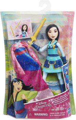 Кукла Мулан с мечом Делюкс - «Мулан» - Дисней (Disney Princess Fearless Adventures Mulan) (фото, вид 1)
