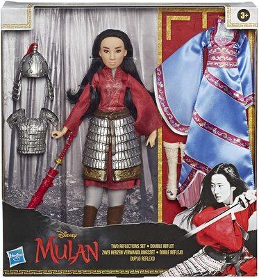 Кукла Мулан с двумя комплектами одежды и аксессуарами - «Мулан» - Дисней (Disney Mulan Two Reflections Set, Fashion Doll with 2 Outfits and Accessories) (фото, вид 1)