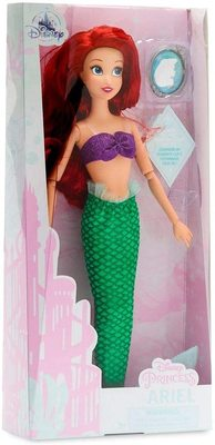 Кукла русалочки Ариэль классическая с подвеской - «Русалочка» - Дисней (Disney Ariel Classic Doll with Pendant – The Little Mermaid) (фото, вид 1)