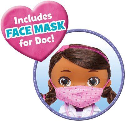 Кукла, поющая «Помой свои ручки», с маской и набором врача - «Доктор Плюшева» - Дисней (Doc McStuffins Disney Junior Wash Your Hands Singing Doll) (фото, вид 2)