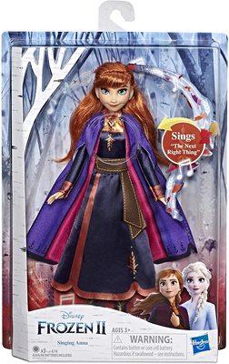 Кукла Анна поющая, в фиолетовой накидке - «Холодное сердце 2» - Дисней (Disney Frozen Singing Anna Fashion Doll with Music Wearing A Purple Dress) (фото, вид 1)