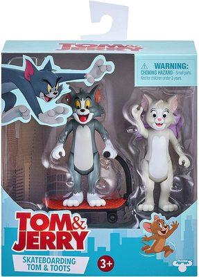 Фигурки Тутс и Тома на самокате - «Том и Джерри» - Дисней (Tom & Jerry Figure 2-Packs: Skateboarding Tom & Toots) (фото, вид 1)