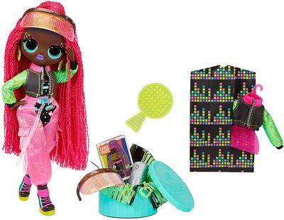 Кукла ЛОЛ О.М.G. Dance Dance Dance Виртуэлла (Virtuelle) светящаяся с 15 сюрпризами. (LOL OMG Dance Dance Dance Virtuelle Fashion Doll) (фото, вид 1)