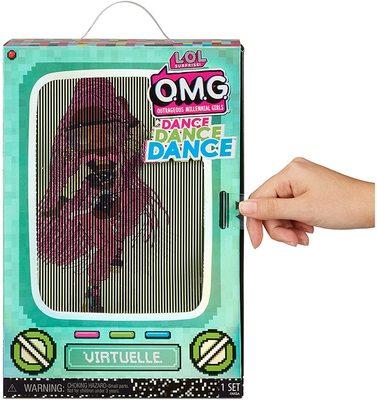 Кукла ЛОЛ О.М.G. Dance Dance Dance Виртуэлла (Virtuelle) светящаяся с 15 сюрпризами. (LOL OMG Dance Dance Dance Virtuelle Fashion Doll) (фото, вид 3)