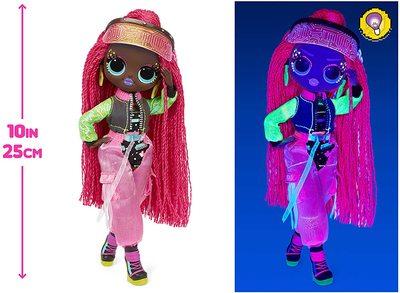 Кукла ЛОЛ О.М.G. Dance Dance Dance Виртуэлла (Virtuelle) светящаяся с 15 сюрпризами. (LOL OMG Dance Dance Dance Virtuelle Fashion Doll) (фото, вид 4)