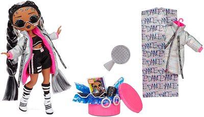 Кукла ЛОЛ Сюрприз О.М.G. Dance Dance Dance БиГёл (B-Girl) светящаяся с 15 сюрпризами. (LOL Surprise OMG Dance Dance Dance B-Gurl Fashion Doll) (фото, вид 1)