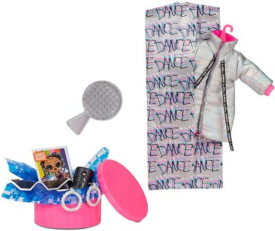Кукла ЛОЛ О.М.G. Dance Dance Dance БиГёл (B-Girl) светящаяся с 15 сюрпризами. (LOL OMG Dance Dance Dance B-Gurl Fashion Doll) (фото, вид 2)