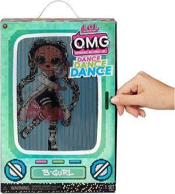 Кукла ЛОЛ Сюрприз О.М.G. Dance Dance Dance БиГёл (B-Girl) светящаяся с 15 сюрпризами. (LOL Surprise OMG Dance Dance Dance B-Gurl Fashion Doll) (фото, вид 3)