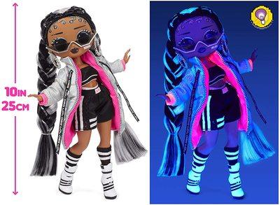 Кукла ЛОЛ О.М.G. Dance Dance Dance БиГёл (B-Girl) светящаяся с 15 сюрпризами. (LOL OMG Dance Dance Dance B-Gurl Fashion Doll) (фото, вид 4)