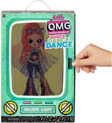 Кукла ЛОЛ О.М.G. Dance Dance Dance Мэйджор (Major) светящаяся с 15 сюрпризами. (LOL OMG Dance Dance Dance Major Lady Fashion Doll) (фото, вид 3)