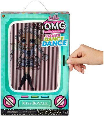 Кукла ЛОЛ Сюрприз О.М.G. Dance Dance Dance Ройала (Royale) светящаяся с 15 сюрпризами. (LOL Surprise OMG Dance Dance Dance Miss Royale Fashion Doll) (фото, вид 3)