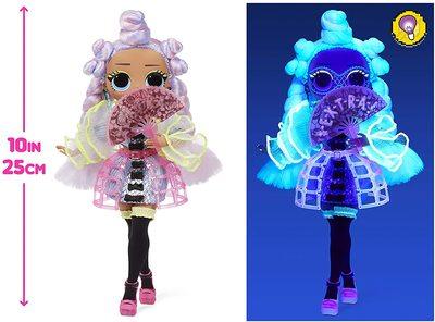 Кукла ЛОЛ О.М.G. Dance Dance Dance Ройала (Royale) светящаяся с 15 сюрпризами. (LOL OMG Dance Dance Dance Miss Royale Fashion Doll) (фото, вид 4)