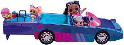 Набор кукла ЛОЛ Дэнсбот в кабриолете для танцев. (LOL Dance Machine Car with Exclusive Doll, Dance Floor and Magic Black Light) (фото, вид 1)