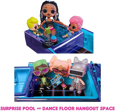 Набор кукла ЛОЛ Дэнсбот в кабриолете для танцев. (LOL Dance Machine Car with Exclusive Doll, Dance Floor and Magic Black Light) (фото, вид 2)