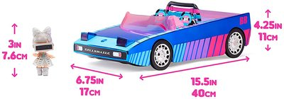 Набор кукла ЛОЛ Дэнсбот в кабриолете для танцев. (LOL Dance Machine Car with Exclusive Doll, Dance Floor and Magic Black Light) (фото, вид 4)