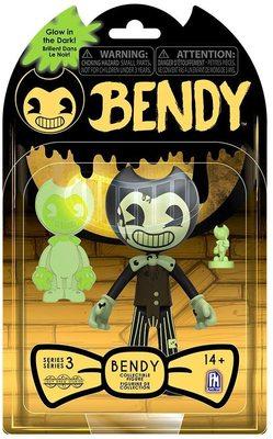 Фигурка Бенди - Светящиеся в Темноте из серии Темное Возрождение 3-серия (Cartoon Bendy - Glow in The Dark Action Figures) (фото, вид 1)