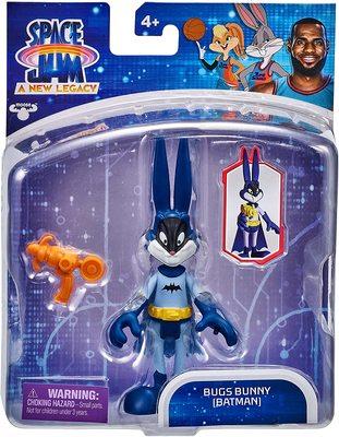 Багз Банни (Бэтмен) из серии «Космический джэм - Новое Наследие». (SPACE JAM: A New Legacy - Baller Action Figure - Bugs Bunny (Batman)) (фото, вид 1)