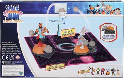 Набор для игры в Данк с фигурой Леброна Джеймс из серии «Космический джэм - Новое Наследие». (SPACE JAM: A New Legacy - Super Shoot & Dunk Playset with Lebron Figure) (фото, вид 1)