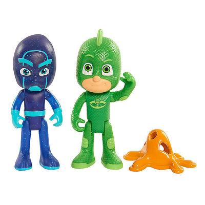 """Гекко и Ночной Ниндзя - фигурки """"Герои в Масках"""" (Disney Junior PJ Masks Gekko & Night Ninja Action Figure) (фото)"""