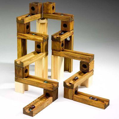 Конструктор - головоломка (Ideal Amaze 'N' Marbles 60 Piece Classic Wood) (фото)